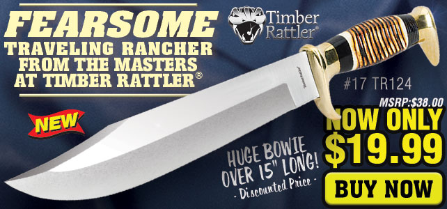 Timber Rattler Traveling Rancher Bowie Knife