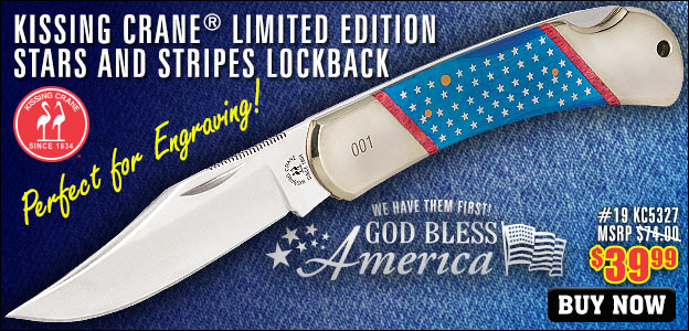 Old Glory Independence Lockback Pocket Knife